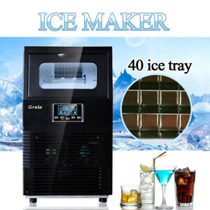 Commercial Ice Maker Stainless Steel Built in Undercounter Freestand 88lb 24hr
