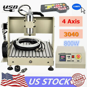 Cnc 3040 4axis Desktop Engraving Machine Usb 800w Cutting Diy Router Remote