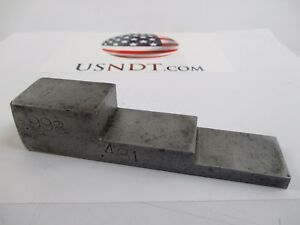 3 step 1018 Steel Calibration Block Standard Olympus Ultrasonic Flaw Ndt Ge