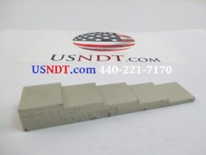 5 step Aluminum Calibration Block Standard Olympus Ultrasonic Flaw Ndt Ge