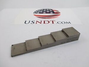 5 step 1018 Steel Calibration Block Standard Olympus Ultrasonic Flaw Ndt Ge