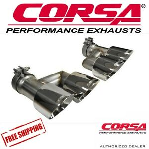 Corsa 4 0 Quad Tip Kit Fits 2015 2017 Ford Mustang Gt 5 0 V8