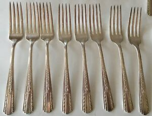 Hollywood Forks 8 Vintage International Silverplate Monroe Silver Co