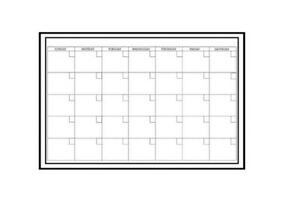 Wallpops Dry Erase Large Monthly Calendar W Marker White Peel Stick 36 X 24
