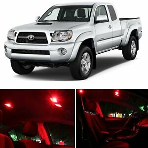 5x Red 5050 Car Led Interior Bulb Kit Package For 1995 2004 Toyota Tacoma Lights