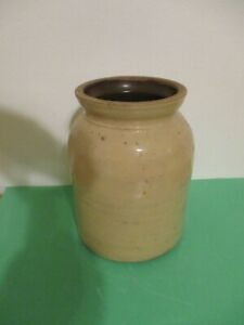 Vintage Small Stoneware Crock 8 In Tall