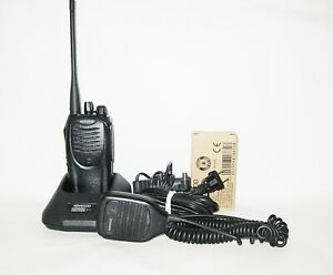 Recased Kenwood Tk 3160 16ch Uhf 450 490 Portable Radio New Battery Speaker Mic