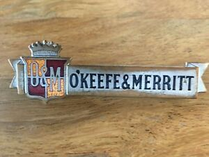 Vintage Stove Parts O Keefe Merritt Stove Name Plate Early 50 S Model