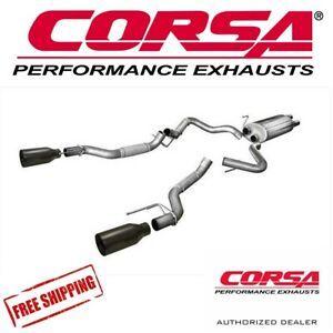 Corsa 3 Cat Back Dual Exhaust System Fits 2017 2019 Ford Raptor Ecoboost 3 5l