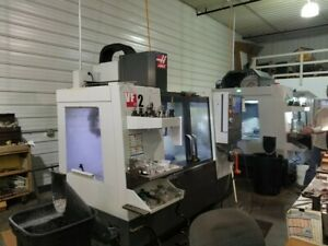 Used 2015 Haas Vf 2 Cnc Vertical Machining Center 30x16 Mill Auger Rigid Tap Usb