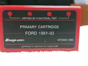 Snap On Troubleshooter Mt2500 1293 Primary Cartridge Ford 1981 93