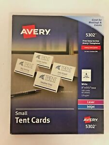 Avery Place Cards Laser Inkjet Printers 160 Printable Cards 2 X 3 5 5302