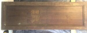 Vtg Walnut Architectural Salvage Wood Panel Carved Bamboo Trees Mcm 60 X 20