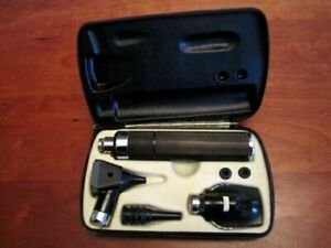Welch Allyn Otoscope 11600 Ophthalmoscope 25000 Set New Battery Lights