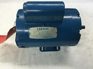 Leeson 110000 00 1 Hp Ac Motor 115 208 230 Volts 1725 Rpm 4p Signle Phase 56