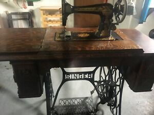 Singer 1906 Treadle Sewing Machine Good 1906 Manual And Puzzlebox Attachments