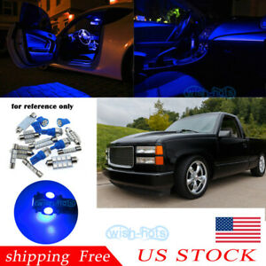 Map Dome Blue Led Interior Lights For 1988 98 Chevy Silverado gmc Sierra Us A2