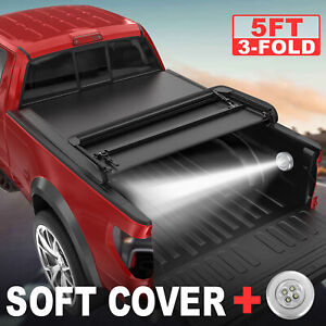 5ft Bed Tonneau Cover For 2015 2016 2017 2018 Chevy Colorado Tri Fold