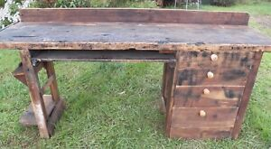 Vintage 8 Long Work Bench For Kitchen Island Work Table Counter Plank Boards