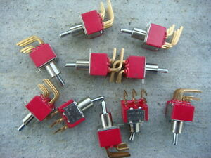 Lot Of 8 C k 7201 Dpdt 2 position on on Toggle Switches New And Unused