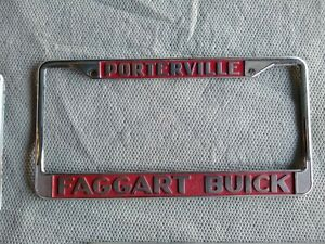 Faggart Buick License Plate Frame Gs Gsx Stage 1 455 1970 1971 Riviera 1969 68