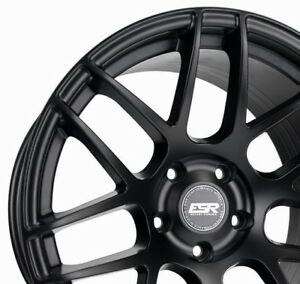 Esr Rf1 18x9 5 22 5x114 3 Matte Black Concave Rotory Forged Set Of 4