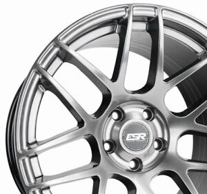 Esr Rf1 18x10 5 22 5x114 3 Hyper Black Concave Rotory Forged Set Of 4