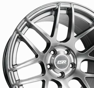 Esr Rf1 18x8 5 30 5x100 Hyper Black Concave Rotory Forged Set Of 4