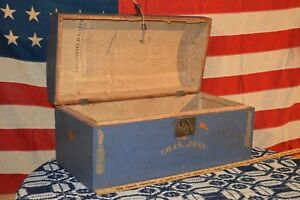 Antique 1800 1820 S American Domed Blanket Chest Trunk Greenfield Massachusetts