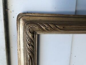 Antique Early 20thc Arts Crafts Silver Gilt Newcomb Macklin Frame Carved