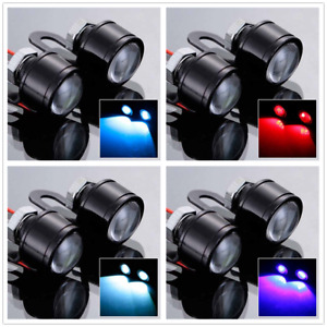 2pcs 12v Motorcycle Led Eagle Eye Warming Strobe Flash Light Lamp Durable Us