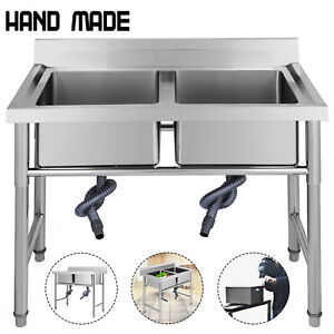 Stainless Steel Hand Washing Sink Nsf Commercial With Apron