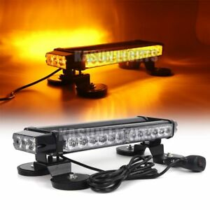 15 30 W Led Strobe Light Bar Car Roof Top Emergency Beacon Flash Warning Amber