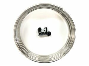 16 Ft Roll Of Stainless Steel 3 8 Fuel Line Tubing W Tube Cutter