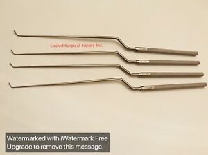 Transsphenoidal Hardy Pituitary Neurosurgery Curettes Set Of 4 Surgical Ent