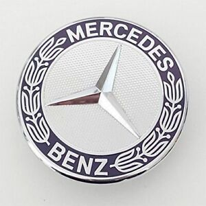 For Mercedes Benz C E Sl Cls S Class Flat Hood Emblem Ornament Star Mount Logo