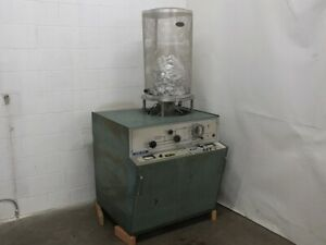 Nrc Sputtering Chamber With Varian Sd 700 Vacuum Pump Cracked Jar As Is 3114