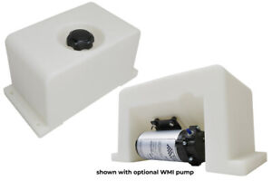 Bms 2 Gallon Low Profile Water Methanol Injection Tank W fittings clear
