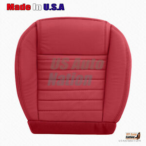 2005 2009 Ford Mustang Passenger Side Bottom Perforated Leather Seat Cover Red