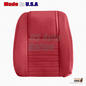 Front Driver Top Perforated Leather Cover Red Fits 2005 2006 2007 Ford Mustang