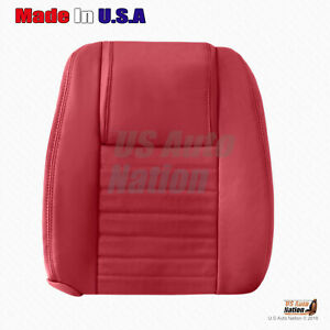 Fits 2005 To 2009 Ford Mustang Front Passenger Top Perforated Leather Cover Red