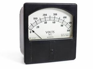 Weston Electrical Model 741 0 100 D c Volts Gauge