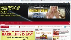 Work At Home Referral Money Banner Links Website For Sale Internet Business