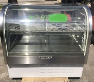 Bev Air Curved 48 Glass Merchandiser Refrigerated Food Deli Meat Display Case