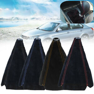 Car Suede Leather Manual Gear Stick Shift Knob Cover Boot Gaiter Cover Universal