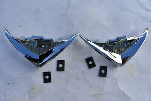 55 1955 Chevy Chevrolet Under Taillight New V8 Vee Emblems Belair 210 Nomads