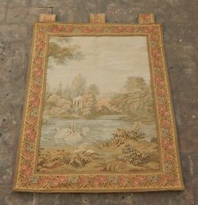 Vintage French Beautiful Verdure Scene Tapestry 86x67cm A1128
