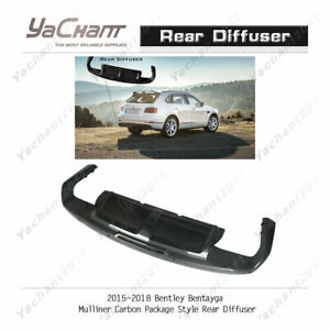 Carbon Lip Kit Fit For 15 18 Bentley Bentayga Mulliner cp style Rear Diffuser