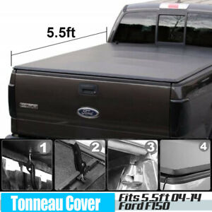 Tonneau Cover Soft Tri Fold Fit 04 14 Ford F150 Short Truck Bed 5 5ft Bed New