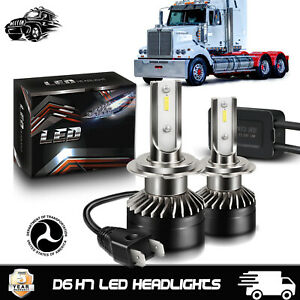 2PCS H7 CSP LED Head light Kit High and Low Beam Bulbs Lamps Bright Western Star